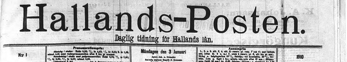 Hallandspostens historiska arkiv